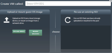 Create a new VM. But first upload an ISO