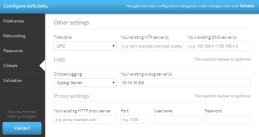 Configure NTP, logging and proxy