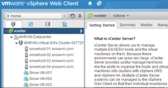 After deployment, you can still manage your environment with vCenter.