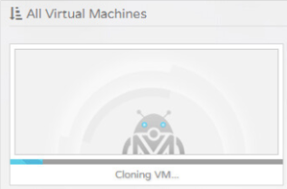 It's also possible to clone an existing VM